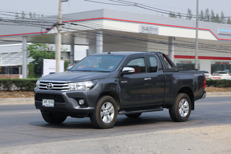 CHIANGMAI, THAILAND -MARCH 14 2016:  Private Pickup car, Toyota Hilux Revo. Photo at road no 121 about 8 km from downtown Chiangmai, thailand.