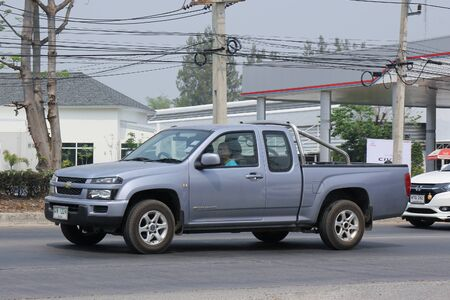 chevrolet: CHIANGMAI, THAILAND -MARCH 14 2016:  Private car, Chevrolet Colorado. Photo at road no.121 about 8 km from downtown Chiangmai, thailand.