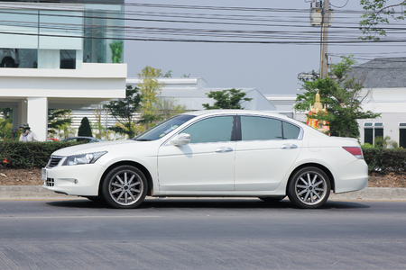 accord: CHIANGMAI, THAILAND -MARCH 15 2016: Private car, Honda accord. Photo at road no.121 about 8 km from downtown Chiangmai, thailand.