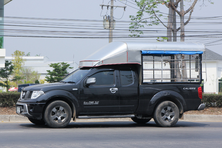 nissan: CHIANGMAI, THAILAND -MARCH 15 2016: Private Nissan Pick up car. Photo at road no 121 about 8 km from downtown Chiangmai, thailand.
