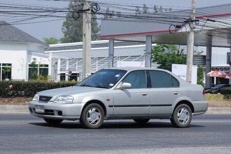 vertex: CHIANGMAI, THAILAND -MARCH 17 2016:  Private car isuzu vertex, Same body of Honda Civic. Photo at road no.121 about 8 km from downtown Chiangmai, thailand.