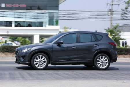 mazda: CHIANGMAI, THAILAND -MARCH 17 2016:   Private car, Mazda CX-5,cx5. On road no.1001, 8 km from Chiangmai city.
