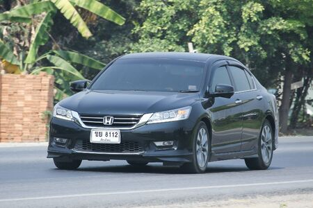 accord: CHIANGMAI, THAILAND -MARCH 21 2016:   Private car, Honda accord. Photo at road no.121 about 8 km from downtown Chiangmai, thailand.