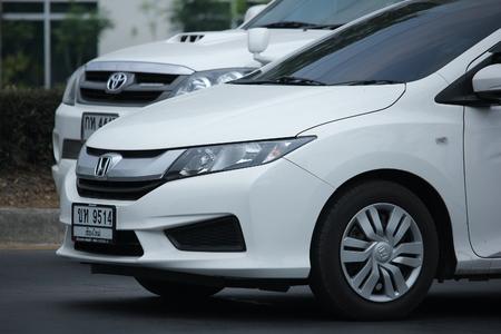 HONDA: CHIANGMAI, THAILAND -APRIL 22 2016:  Private City Car, Honda City. On road no.1001, 8 km from Chiangmai city.