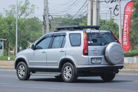 HONDA: CHIANGMAI, THAILAND -APRIL 25 2016: Private Honda CRV suv car. On road no.1001, 8 km from Chiangmai city.