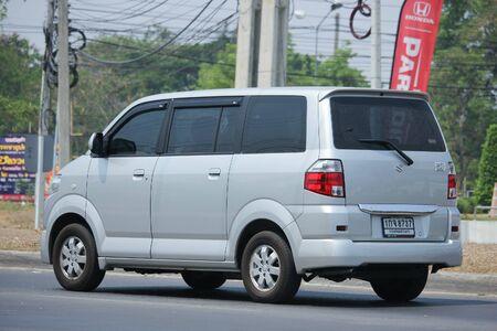 CHIANGMAI, THAILAND -APRIL 25 2016: Private car, Mini Van of Suzuki APV. On road no.1001, 8 km from Chiangmai city. Editorial