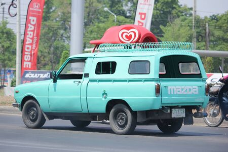 mazda: CHIANGMAI, THAILAND -APRIL 26 2016: Private car, Mazda Family mini Pick up truck. On road no.1001, 8 km from Chiangmai city. Editorial