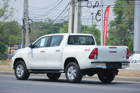 CHIANGMAI, THAILAND -APRIL 26 2016: Private Pickup car, Toyota Hilux Revo. Photo at road no 121 about 8 km from downtown Chiangmai, thailand. Editorial