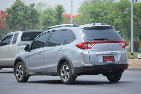 HONDA: CHIANGMAI, THAILAND -APRIL 29 2016: Private New suv car, Honda BRV. On road no.1001, 8 km from Chiangmai city. Editorial