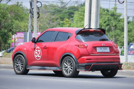 km: CHIANGMAI, THAILAND -MAY 2 2016: Private car, Nissan Juke. On road no.1001, 8 km from Chiangmai city. Editorial