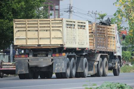 cpl: CHIANGMAI, THAILAND -MAY 7 2016:  10 wheel Dump Truck of CPL Company.  On road no.1001, 8 km from Chiangmai city. Editorial