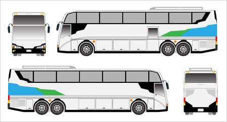 upper floor: Modern Touring  bus , sporty bus Illustration