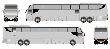 upper floor: Modern Long bus vector, sporty bus