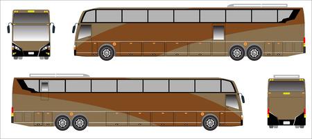 upper floor: Modern Long bus vector, Colour sporty bus