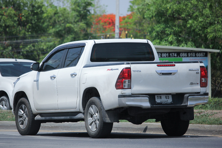 CHIANGMAI, THAILAND -MAY 26 2016: Private Pickup Toyota Hilux Revo Double cab. 8 generation of Hilux, Assembly in thailand. Photo at road no 121 about 8 km from downtown Chiangmai, thailand.