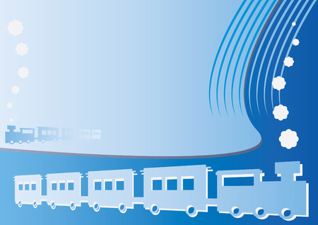 modern train: Modern train background with space for text and graphic Illustration