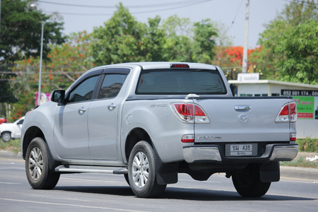 mazda: CHIANGMAI, THAILAND -MAY 28 2016: Private Pickup car, Mazda BT-50 Pro. Photo at road no 121 about 8 km from downtown Chiangmai, thailand.