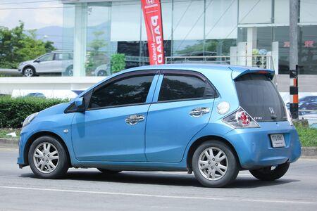 HONDA: CHIANGMAI, THAILAND -JUNE 21 2016: Private Eco car, Honda Brio. On road no.1001, 8 km from Chiangmai city. Editorial