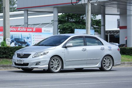 corolla: CHIANGMAI, THAILAND -JUNE 27 2016: Private car, Toyota Corolla Altis. Photo at road no 121 about 8 km from downtown Chiangmai, thailand. Editorial