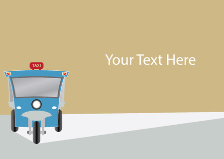 three wheel: Modern design of Three wheel Motor or Tuktuk with space for your text Illustration
