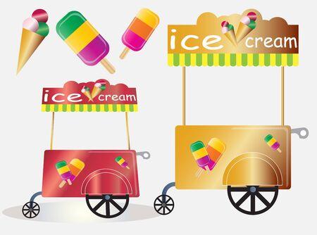 carretto gelati: Ice cream Vintage carrello