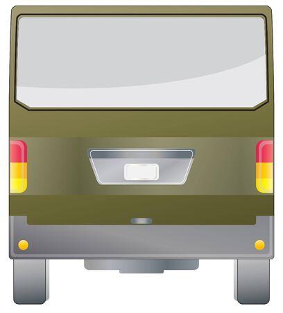 cargo van: Back view of Cargo van car