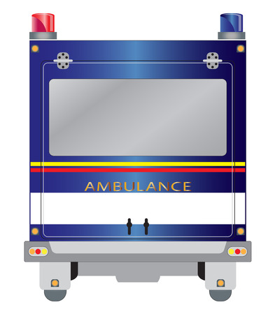 pickup: Back view of Emergency Pickup car Illustration