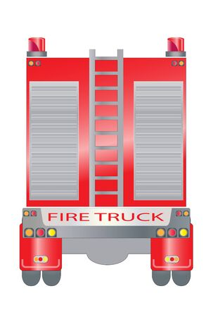 back view: Back view of Fire truck Illustration