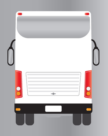 front wheel drive: Back view of Double deck Modern touring bus