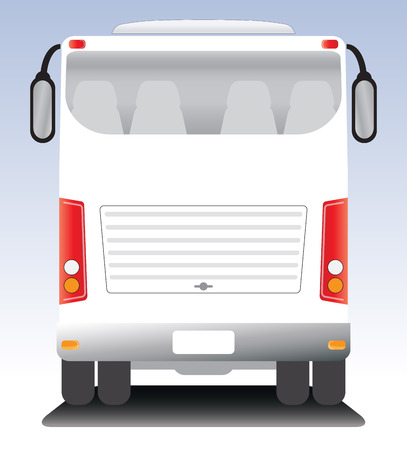coach bus: Back view of  Modern touring Coach  bus Illustration