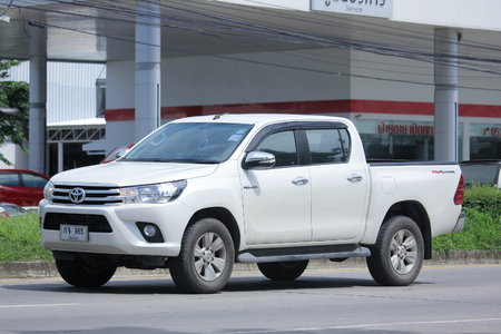CHIANGMAI, THAILAND -JULY 26 2016: Private Pickup car, Toyota Hilux Revo Prerunner. On road no.1001, 8 km from Chiangmai Business Area. Editorial
