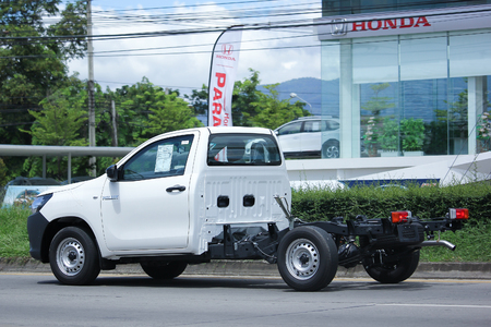 CHIANGMAI, THAILAND -JULY 26 2016: Private Pickup car, Toyota Hilux Revo Standard Cab. On road no.1001, 8 km from Chiangmai Business Area.