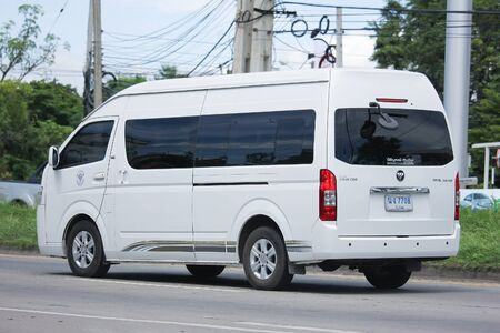 public health: CHIANGMAI, THAILAND -JULY 26 2016:  Foton View cs2 van of Ministry of Public Health. On road no.1001, 8 km from Chiangmai Business Area. Editorial