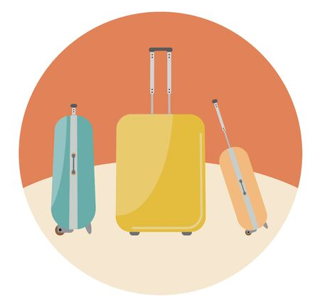 travel bags: Travel bags in retro colour Illustration