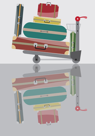 trolley: Luggage Trolley Vector Illustration Illustration