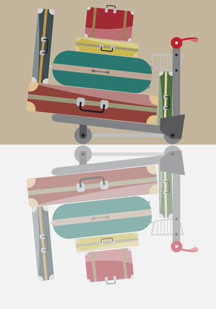 trolley case: Luggage Trolley Vector Illustration Illustration