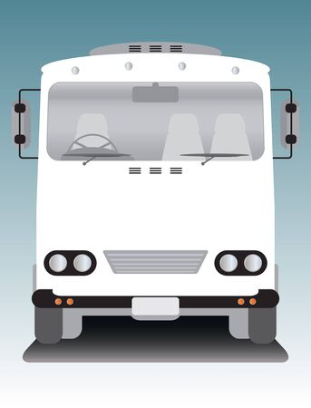 old bus: front view of old bus Illustration
