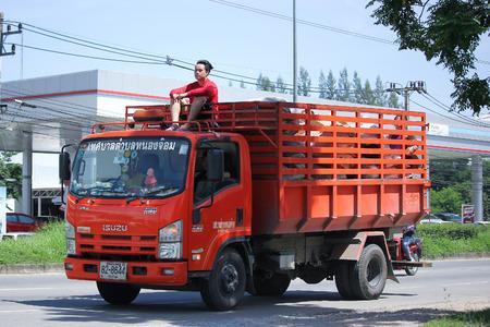 environmental sanitation: CHIANGMAI, THAILAND -JULY 27 2016: Garbage truck of Nongjom Subdistrict Administrative Organization.  On road no.1001, 8 km from Chiangmai Business Area. Editorial