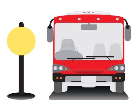 low floor: low floor city bus at bus stop