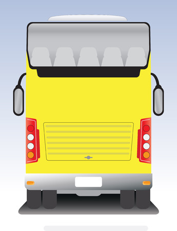 touring: Back view of Double deck touring bus