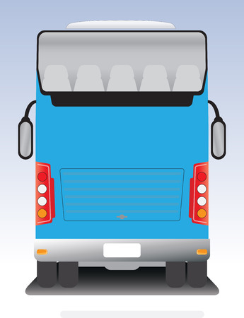front wheel drive: Back view of Double deck touring bus