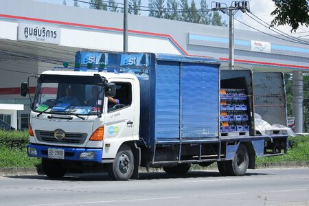 est: CHIANGMAI, THAILAND -JULY 27 2016:  Truck of Sermsuk Company. Est cola Product.   On road no.1001, 8 km from Chiangmai Business Area. Editorial