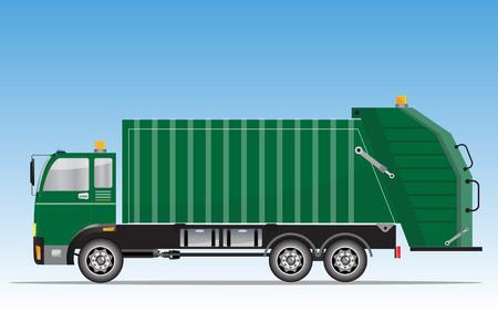 illustration vectorielle de camion garbage