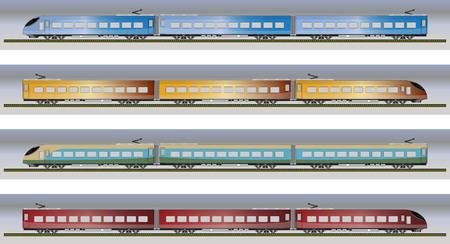 high speed train: Set of High speed train vector illustration