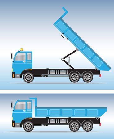Side view of Big Dump truck Vector Illustration
