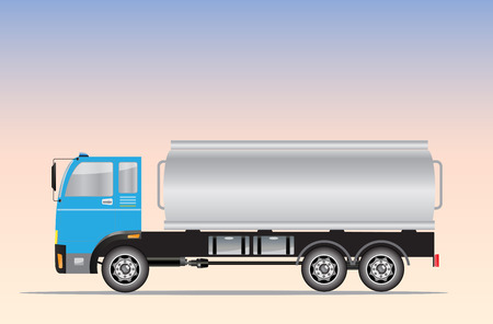 Zijaanzicht van Big Oil Tanker truck Vector Illustration Vector Illustratie