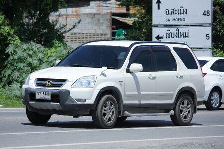 HONDA: CHIANGMAI, THAILAND -JULY 27 2016:  Private Honda CRV. Urban Suv car.   On road no.1001, 8 km from Chiangmai Business Area.