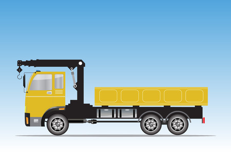 crane truck: Side view of  Crane  truck Vector Illustration