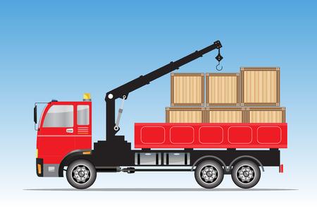 クレーン ・ トラック ベクトル図の側面図