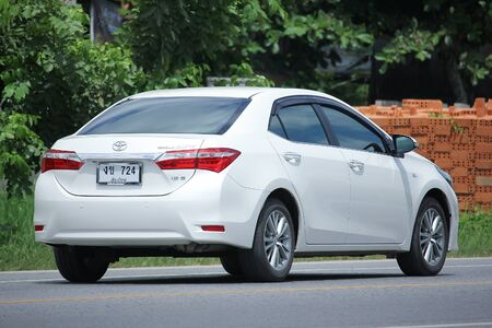 corolla: CHIANGMAI, THAILAND -AUGUST 9 2016:   Private car, Toyota Corolla Altis.   On road no.1001, 8 km from Chiangmai Business Area.